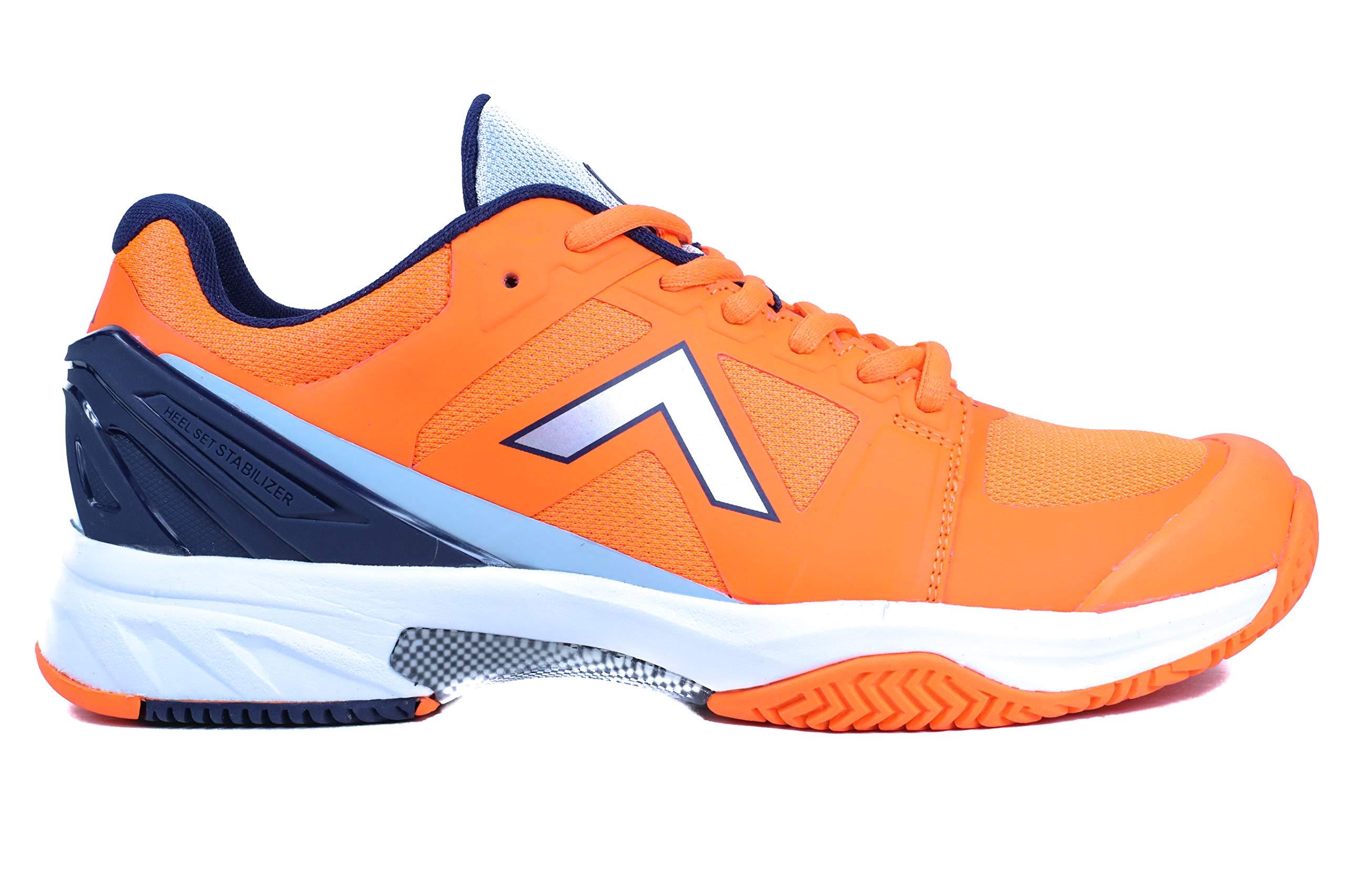 Tyrol Men's Striker Pro Series Pickleball Shoe (7, f.Orange/Navy)