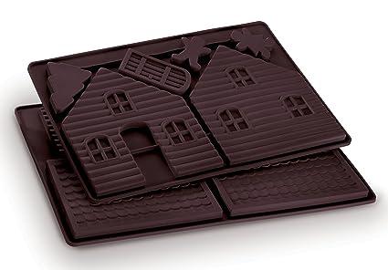 Dr. Oetker 2190 - Molde de silicona con forma de casita de chocolate