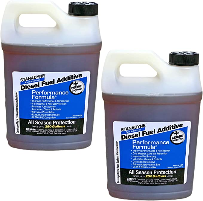 Amazon Com Stanadyne Performance Formula Diesel Fuel Additive 2 Pack Of 1 2 Gallon Jugs Part 38566 Automotive