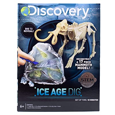 Discovery Ice Age Dig by Horizon Group USA,Dig & Excavate Through Jelly to Reveal 16 Mammoth Bones.Dino Dig, Slime Dig, Fossil Dig Kit: Toys & Games