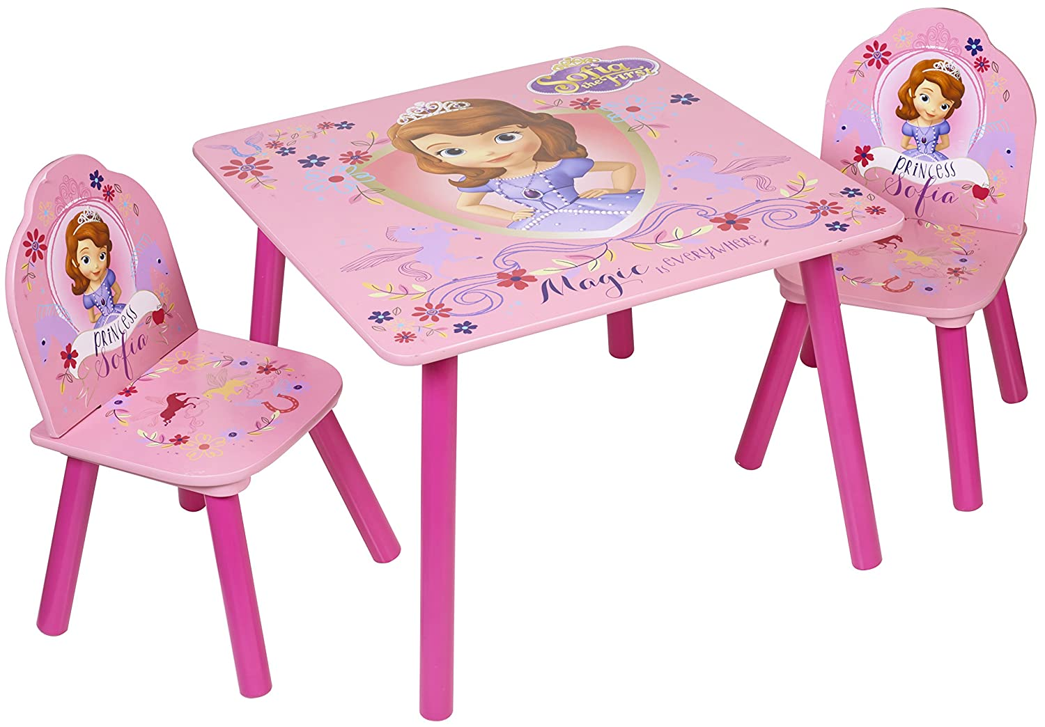 Disney Sofia The First Table and Chairs Wood Pink Amazon.co.uk Kitchen u0026 Home  sc 1 st  Amazon UK & Disney Sofia The First Table and Chairs Wood Pink: Amazon.co.uk ...