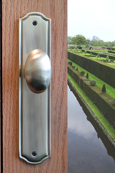 Dummy Door Knob Handle U0026 Escutcheon Back Plate Westbury For Inactive Double  Doors Or Closet Doors
