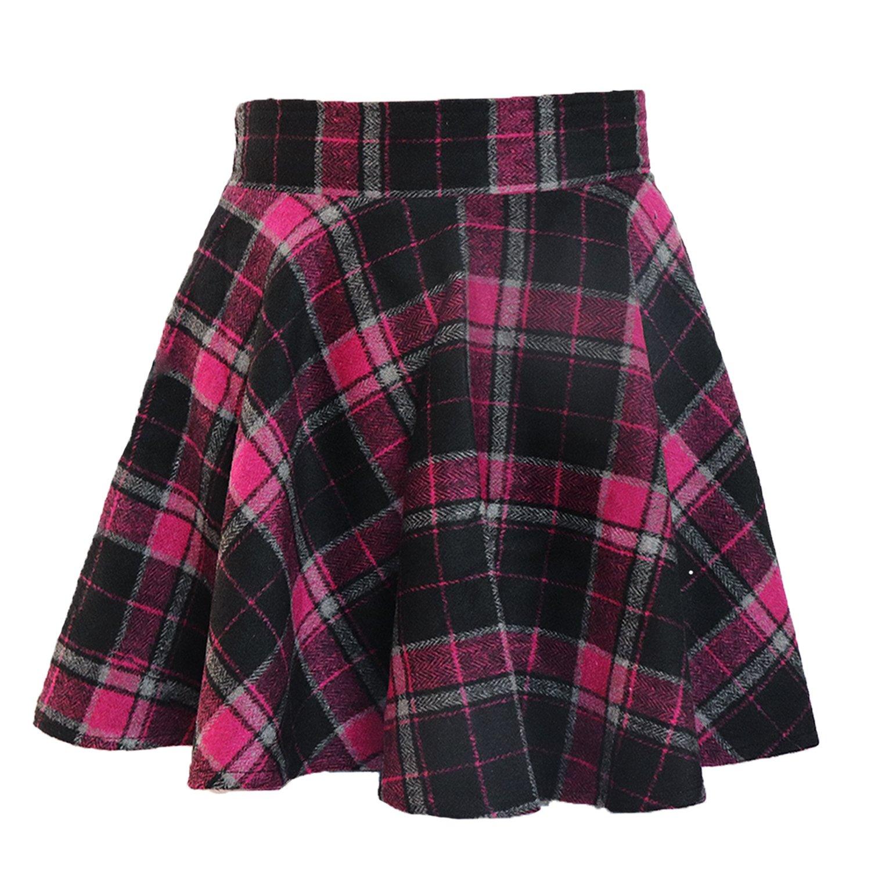 LifeWheel Winter Maiden Woolen Plaid Skirt/Womens Lady Sweet Short Princess Dress/Pleated School Uniform Skirt