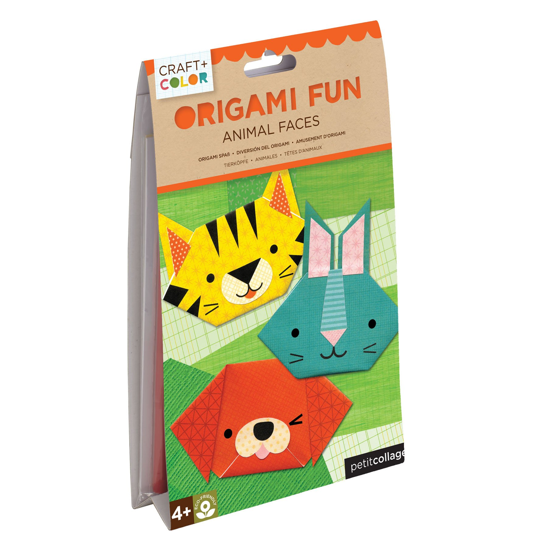 Petit Collage Animal Faces Origami Fun Craft & Color by Petit Collage
