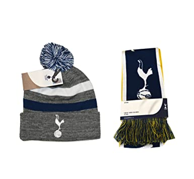 bd397a1e317 Tottenham Hotspur F.C. Scarf and Beanie Skull Cap Hat Soccer Football  Official Merchandise (grey)