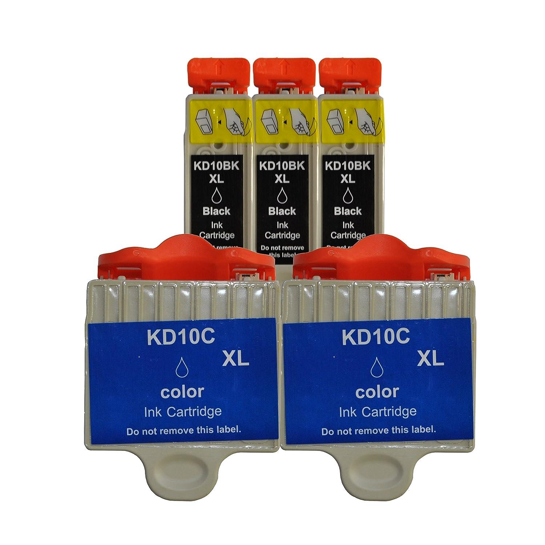 3 Color® con chip cartuchos de tinta para Kodak ESP 3 3250 5 5250 ...