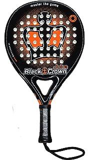 Black Crown Joke Pala de Padel, Adultos Unisex, Negro Naranja, L