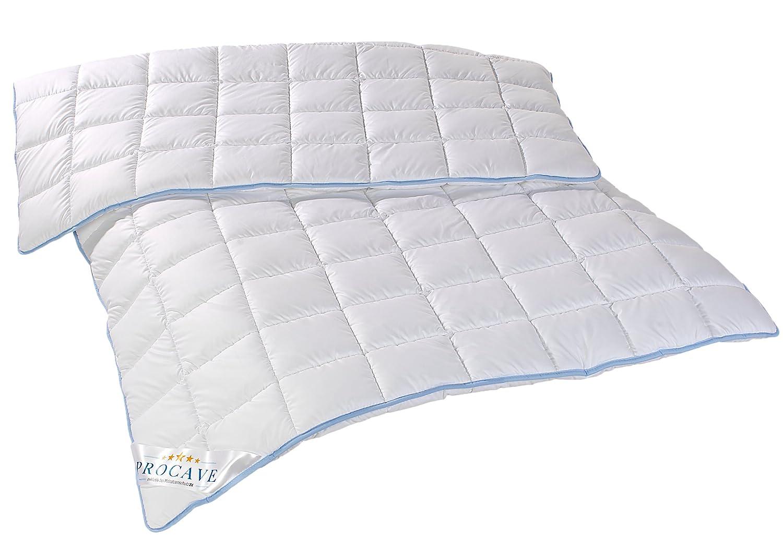 PROCAVE TopCool warme Duo Winter-Qualitäts-Bettdecke für die kalte Jahreszeit   Soft-Komfort-Bettdecke   kochfeste Steppdecke   atmungsaktiv & wärmeausgleichend   Made in Germany   260x220cm