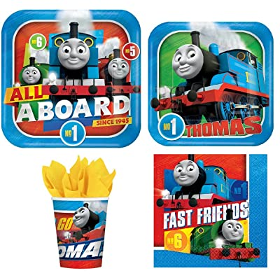 Disney Thomas The Train Value Pack Birthday Party for 8 Guests ( Plates, Cups, Napkins): Toys & Games