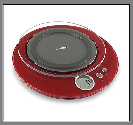 Terraillon Halo - Báscula de cocina electrónica (4 kg), color granate