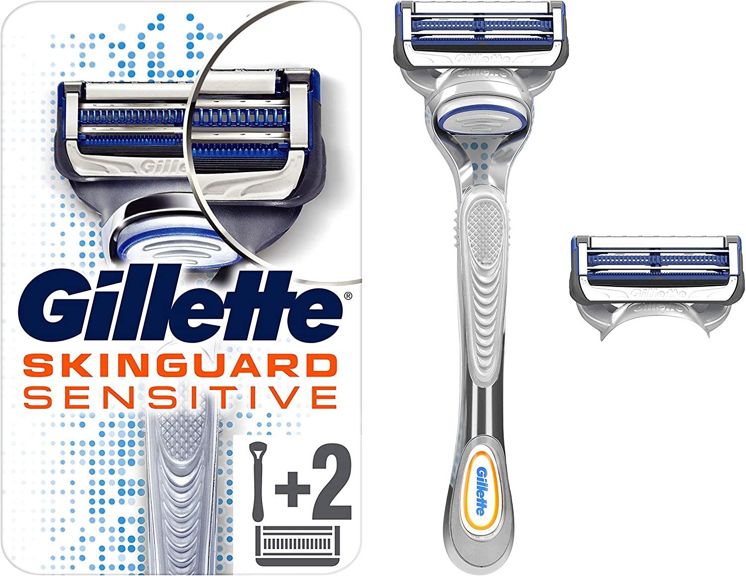 Gilette Skinguard Sensitive Razor For Men 80 g: Amazon.es: Salud y ...