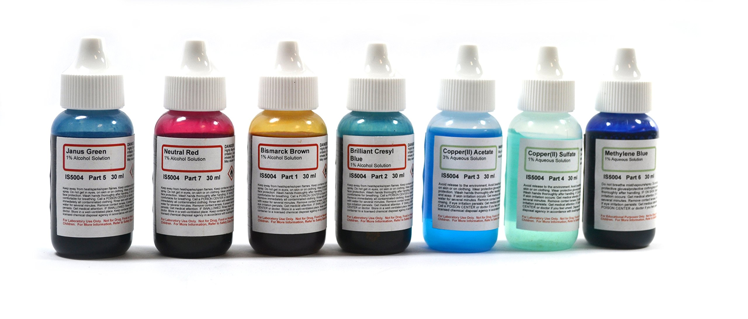 Innovating Science Microscope Stains Vital Stain Kit, 7 Bottles of Different Stains