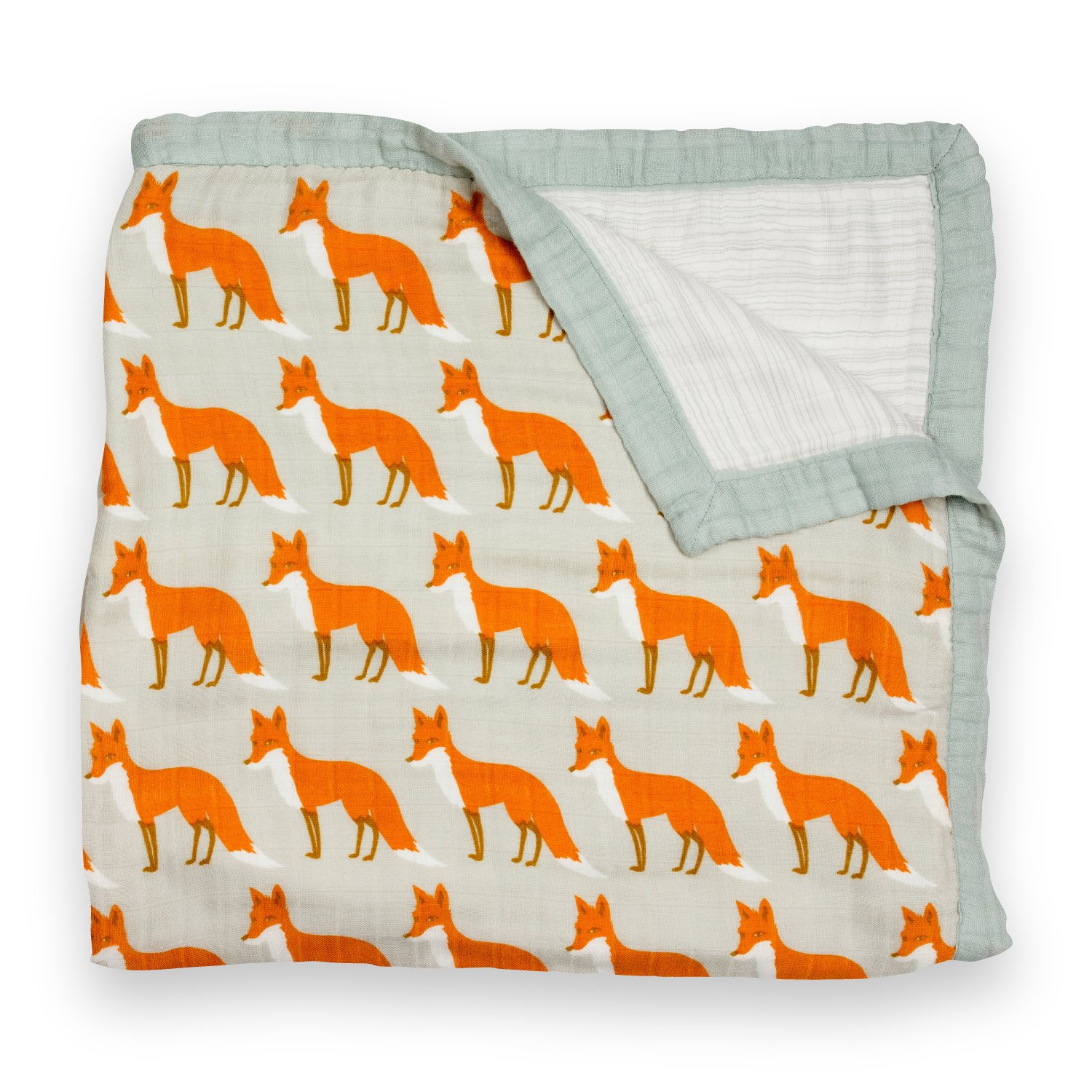Amazon Com Zebi Baby Swaddle Blanket Orange Fox Baby