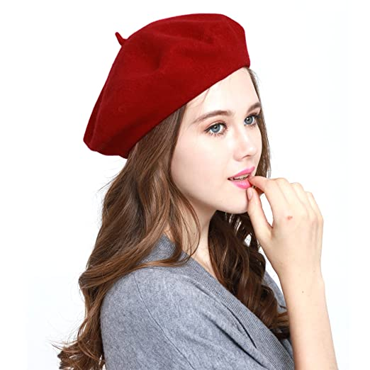3b7bf1363ca01 Classic WW004 Winter 100% Wool Warm French Art Basque Beret Tam Beanie Hat  Cap (