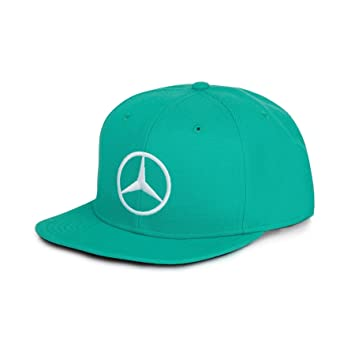 Official 2016 Mercedes AMG F1 Lewis Hamilton Malaysia Flat Peak Cap -  Turquoise  Amazon.co.uk  Sports   Outdoors 015517a307f
