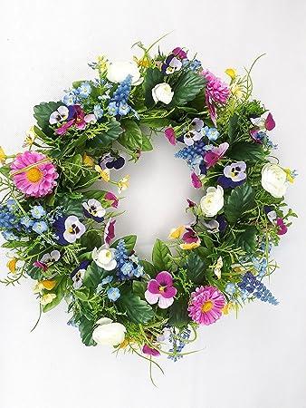 Amazon De Florissima Blumenkranz Kunterbunt Vergissmeinnicht Bellis