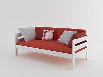 Lufe Cama sofá de Madera Completa (con colchón) (90_x_200_cm ...
