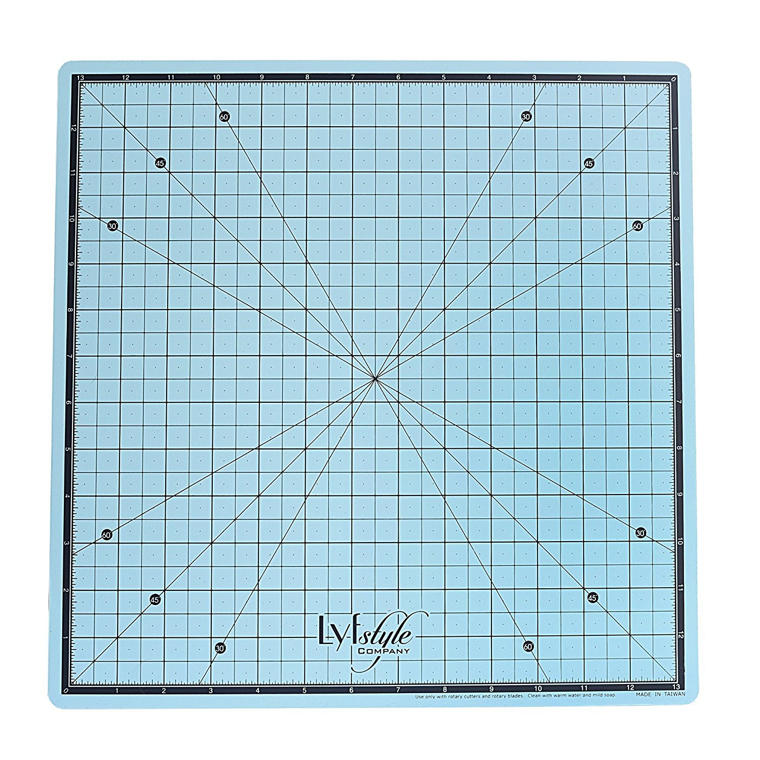 Lyfstyle Rotating Self Healing Cutting Mat / 14x14 inch/ICY Blue Combined Brands R14X14
