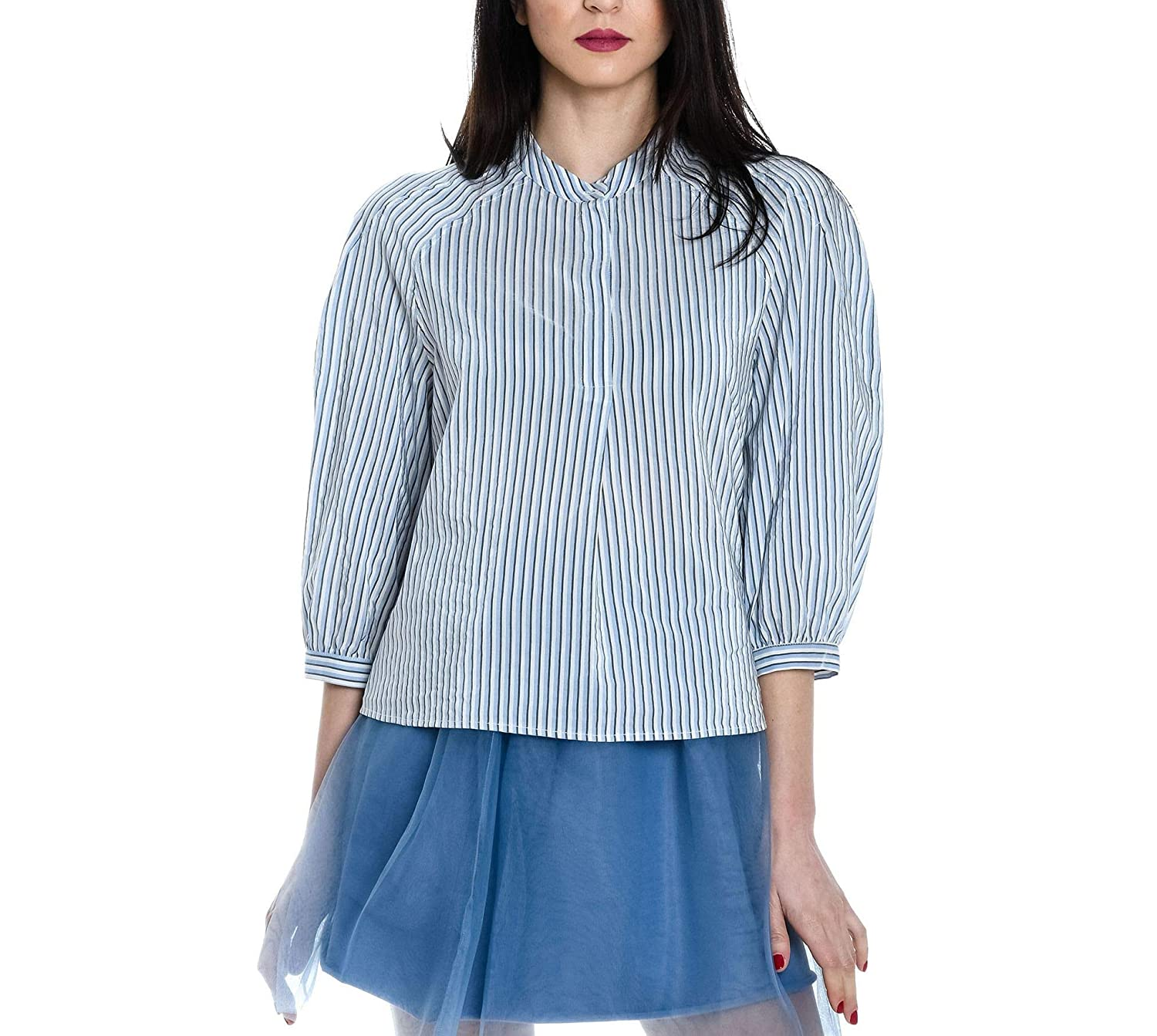 Attic And Barn Women's ATBL009AT090824 Light bluee Cotton Blouse