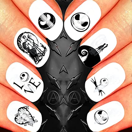 Amazon Nail Art Waterslide Decal Design Set Jack Skellington