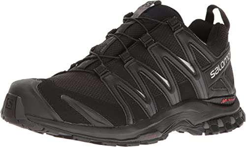 Salomon XA Pro 3D Trail-Running Hiking Mens Shoes Black//Magnet Used Lightly Worn