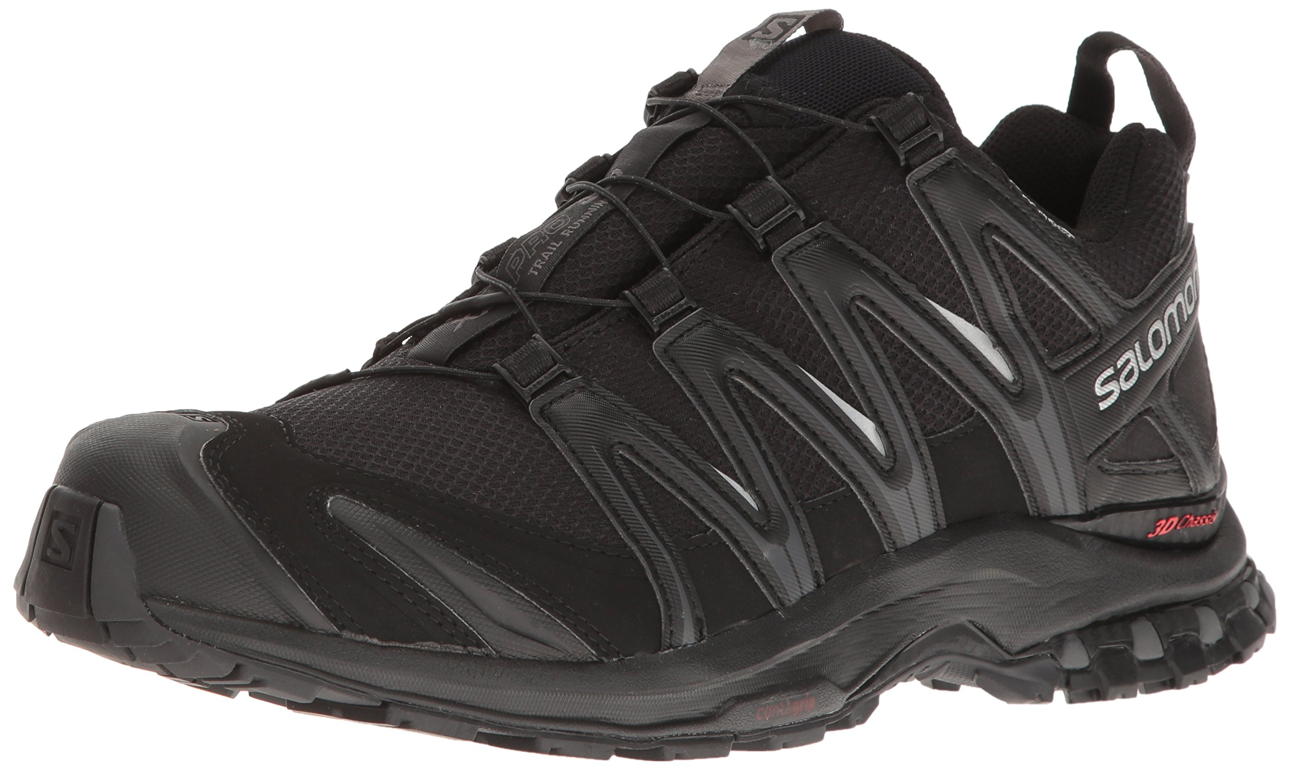Salomon Men's XA Pro 3D Cs Wp Trail Running Shoes, Black/Black/Magnet, 10.5 by SALOMON