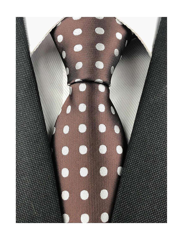 Kihatwin Corbata para hombre, diseño de rayas y lunares, traje ...