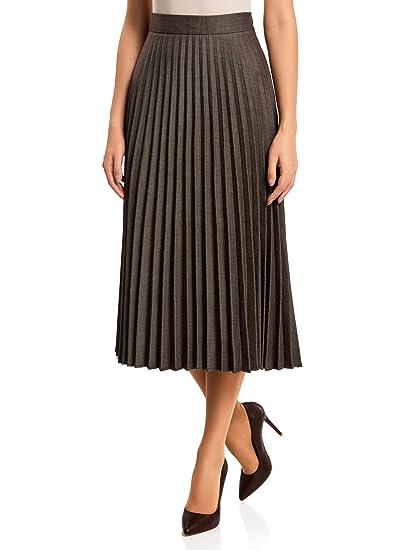 oodji Collection Mujer Falda Larga Plisada: Amazon.es: Ropa y ...