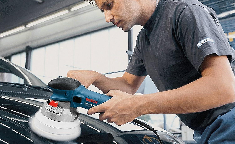 Bosch GEX 150 Turbo Professional Exzenterschleifer mit Schleifteller und Schl/üsselhalter