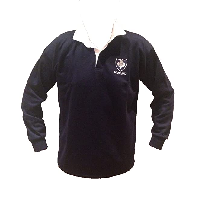 ef1155906b0 Rugby Scotland Shirt Retro Traditional Classic Scottish New S M L XL XXL  3XL 4XL 5XL: Amazon.co.uk: Clothing