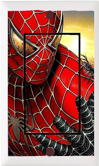 Got You Covered Framed Marvelu0027s Ultimate Spider Man Bedding Bathroom Light  Switch Cover Plate Or