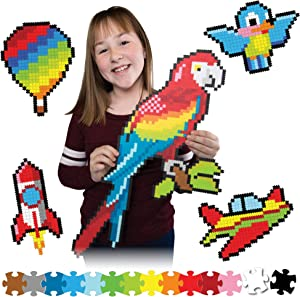Fat Brain Toys Jixelz 1500 pc Set - Up in The Air Arts & Crafts for Ages 6 to 12