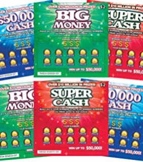 Amazon com: TheGag Fake Lottery Tickets- Set of 6-Each Ticket a Fake