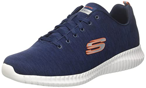 Skechers Elite Flex-Attard, Baskets Homme, Gris (Charcoal), 44 EU