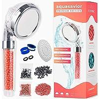 Aquasavior-douchekop, hogedruk-handkop, douchehendel met ionische antikalk en chloorfilter, afneembare badkamertelefoon…