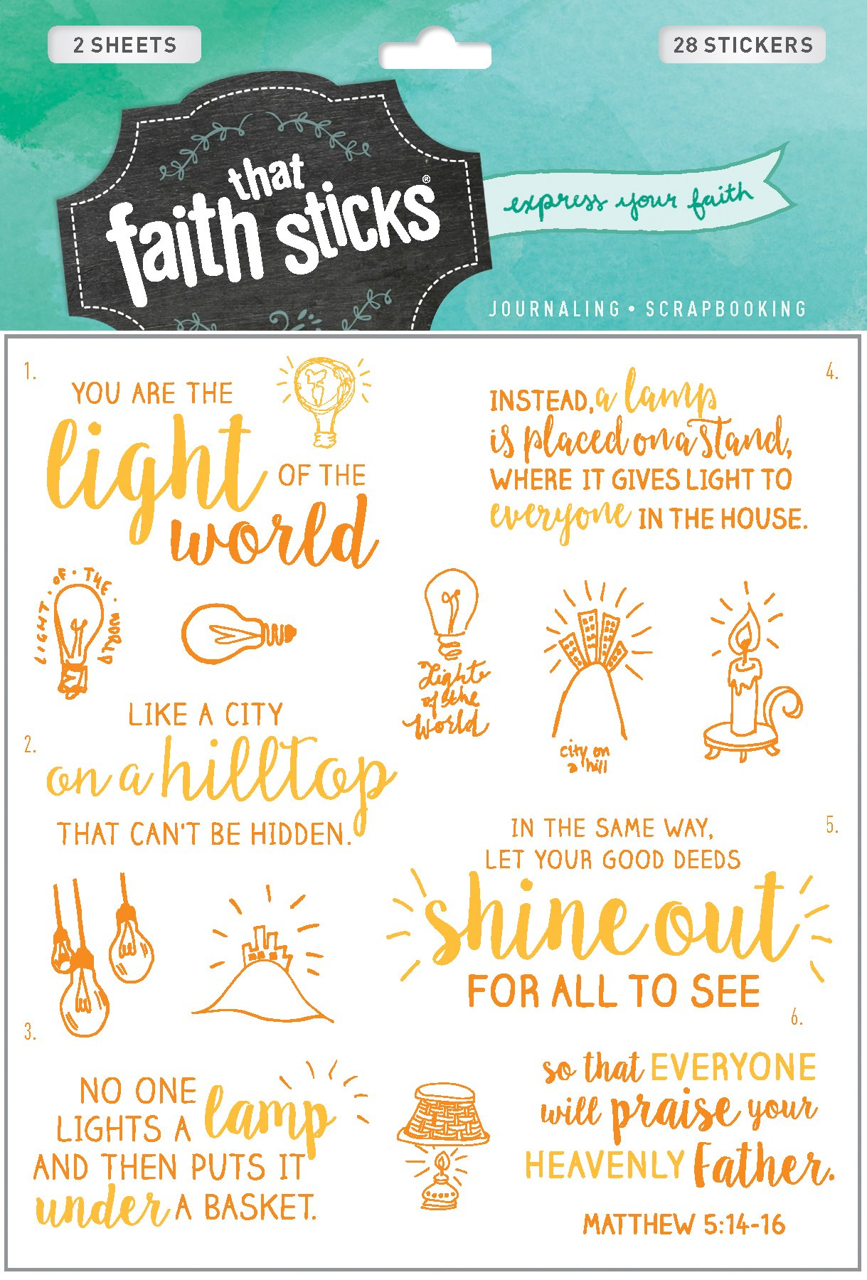 Matthew 5:14-16 (Faith That Sticks Stickers) PDF