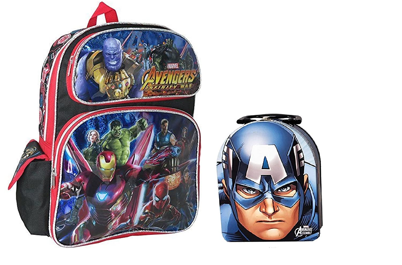 Marvel Avengers infinity War Largeバックパック+ Captain America Tinアクセサリー   B07DLFHYF6