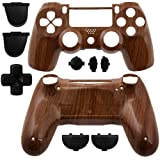 GAMINGER Exchange Housing for Sony PlayStation 4 Dualshock 4 Controller Skin Shell Case Housing Kit Case Skin Accessories Custom Mod Tuning – WOOD