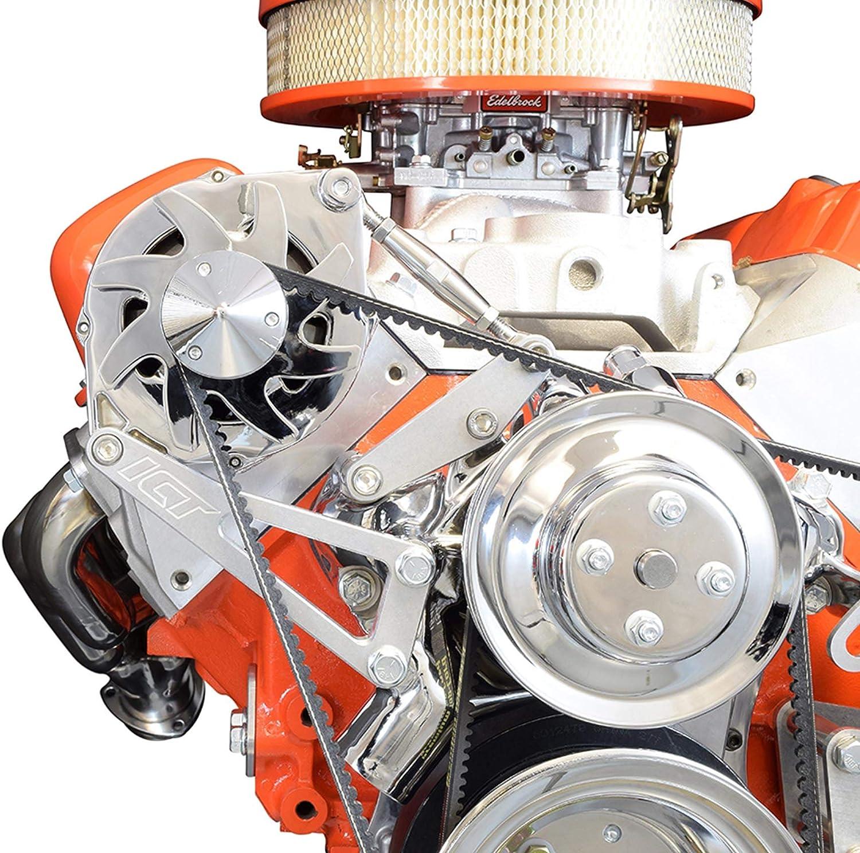 Chevy BBC 454 Long Water Pump Lwp Aluminum Alternator Bracket Kit Polished