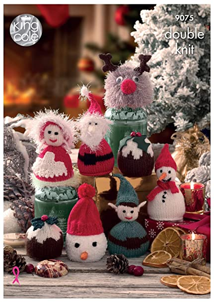 70602b226fd10 King Cole 9075 Knitting Pattern Christmas Candy Cosies in Dollymix and  Pricewise DK  Amazon.co.uk  Kitchen   Home
