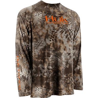 HUK Performance Fishing Men's Kryptek Raglan Long Sleeve Shirt -  H1200022ty2 at Amazon Men's Clothing store: