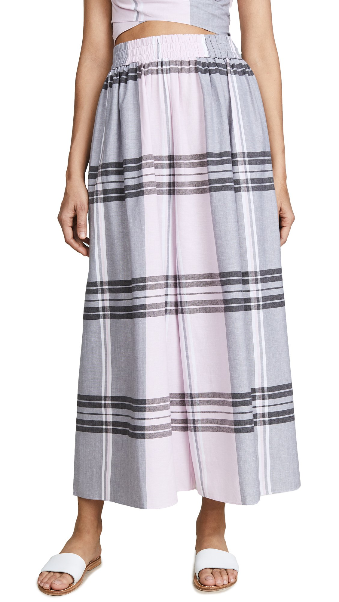 Mara Hoffman Women's Paloma French Plaid Cover-up Pants, Pink/Multi, S