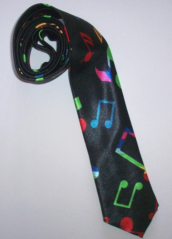 Corbata Negra con Estampado de Notas Musicales: Amazon.es: Zapatos ...