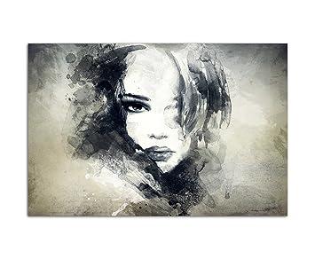 120x80cm   WANDBILD Handmalerei Gesicht Frau Mädchen Abstrakt    Leinwandbild Auf Keilrahmen Modern Stilvoll   Bilder