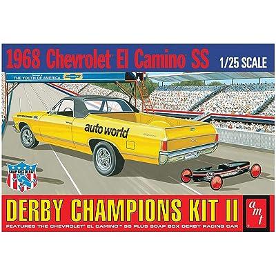 AMT AMT1018 1:25 Scale 1968 El Camino SS with Bonus soap Box Derby Car Model Kit: Toys & Games