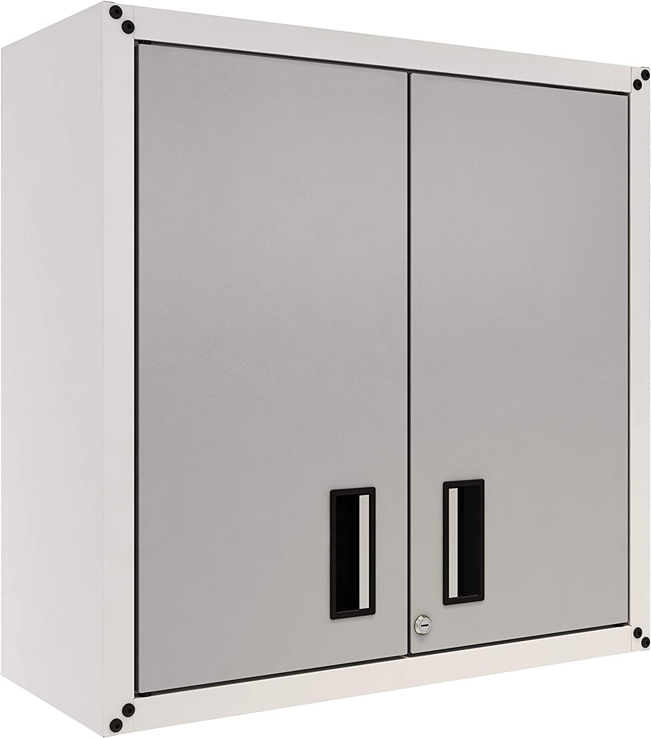 itbe for Home Ready-to-Assemble Wall Steel Cabinet with Two Doors (White and Grey)