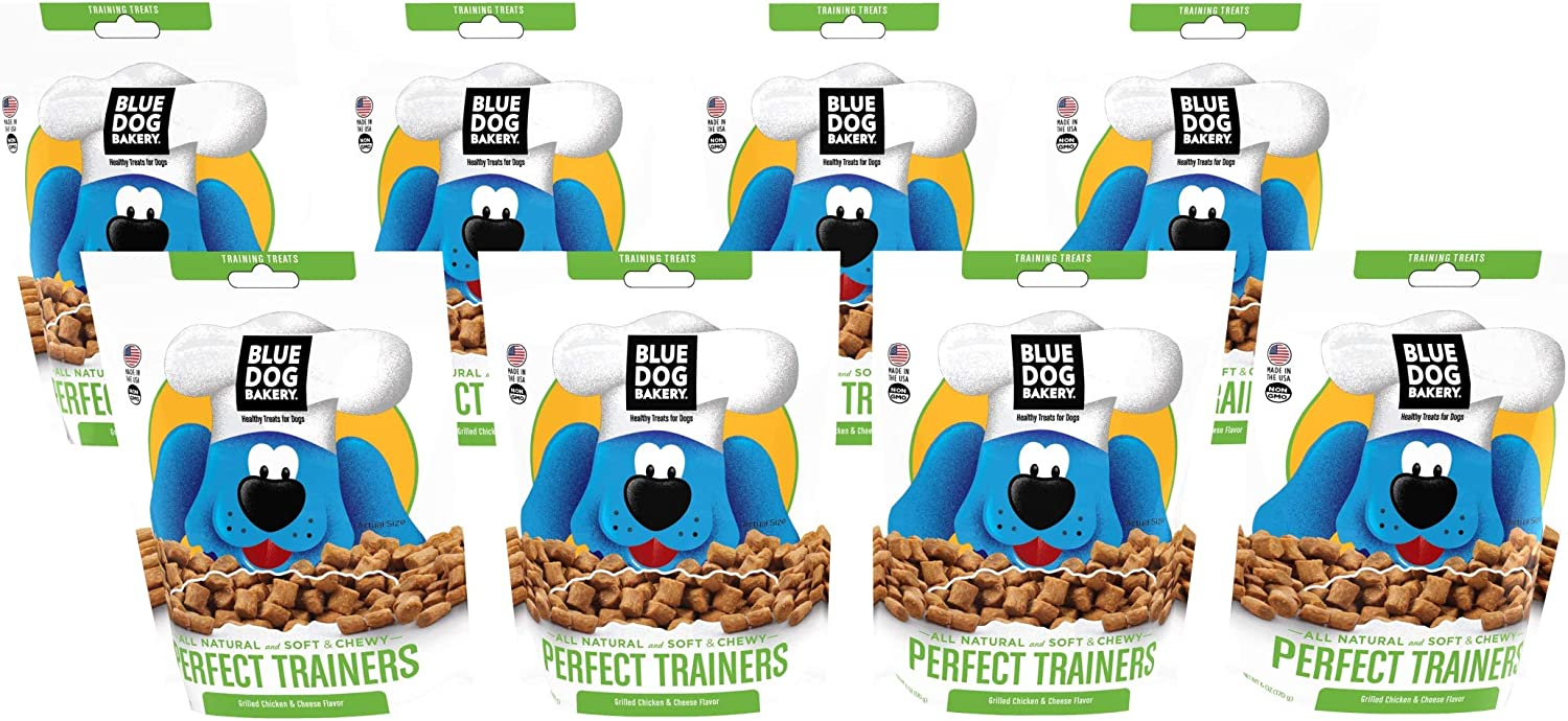 Blue Dog Bakery Natural Dog Treats, Perfect Trainers, 6oz Pack of 8, Training Treats, Grilled Chicken Cheese Flavor