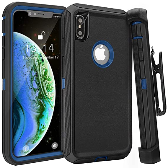 iphone xs max case navy blue
