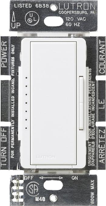 Lutron MACL-153M-WH Maestro 150-Watt Multi-Location CFL/LED Digital Dimmer