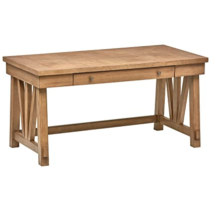 Awe Inspiring Stone Beam Casual Wood Office Computer Desk 60W Birch Download Free Architecture Designs Scobabritishbridgeorg
